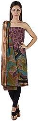 Bee Gee Boutique Women's Cotton Unstitched Dress Materials (BG-55, Purple)