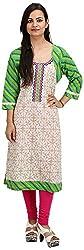 Khushi Garments Women's Cotton Regular Fit Kurta (Khushi010_S, Multicolor, Small)
