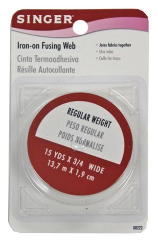 Discover Bargain Singer Iron-On Fusing Web, Regular Hold, 15 yards x 3/4 wide (Pack of 6)