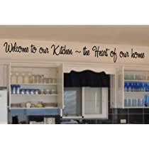 Welcome to our kitchen vinyl wall lettering words sticky art home decor quotes stickers decals