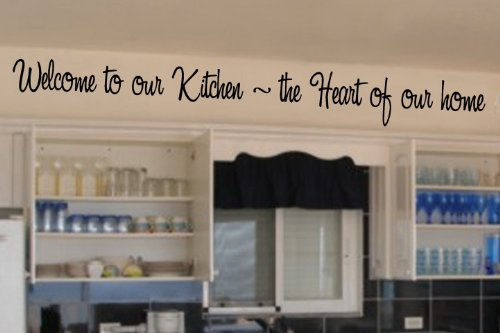 Welcome to our kitchen vinyl wall lettering words sticky art home decor quote...