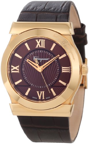 Ferragamo Women's F74MBQ5033 SB25 Vega Rose Gold IP Brown Dial Sapphire Crystal Watch