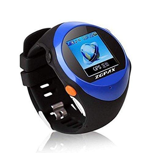 FAIRTEK--GPS-Notrufuhr-Notrufmelder-Ortungsgert-Tracker-Ortung-Tracking-GeoZaun-Notruf-Uhr-mit-SOS-Taste-fr-Senioren-Hilfsbedrftige-in-BLAU-Aufschaltung-Online-Tracking-Portal-mit-APP-undoder-PC