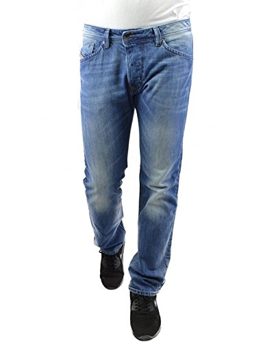 DIESEL - Jeans da Uomo DARRON 0RB04 - Regular Slim - Tapered - Non Stretch - blu, W31 / L32