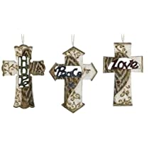 Club Pack of 12 Inspirational Religious Cross Christmas Ornaments 5.5