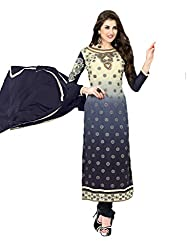 Inddus Blue Embroidered Georgette Salwar Kameez