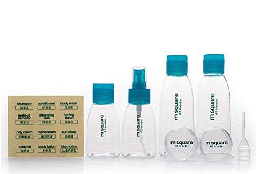 8 x m Table Carré Boîtes Squeeze Bouteille de Moutarde Ketchup Bouteille de Voyage PP/PETG alimentaire (FDA) Produit 100% Sans BPA