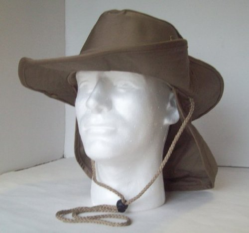Great Features Of SAFARI Hat/Boonie Adult Small to Medium in Tan/ Khaki/ Dark Beige Color with Neck ...