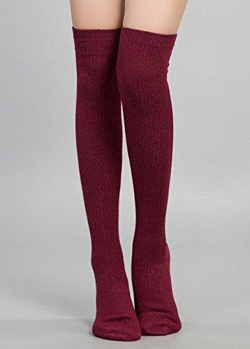 GAMBE CALZE Joker moda calzini sopra scaldamuscoli sottile delle donne calze al ginocchio , 2