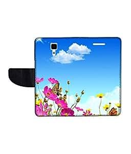 KolorEdge Printed Flip Cover For Redmi Xiaomi MI 4 Multicolor - (50KeMLogo11346XiaomiMi4)