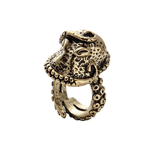 SENFAI Fashion Punk Style Finger Ring Vintage Deep Sea Octopus Rings (8)