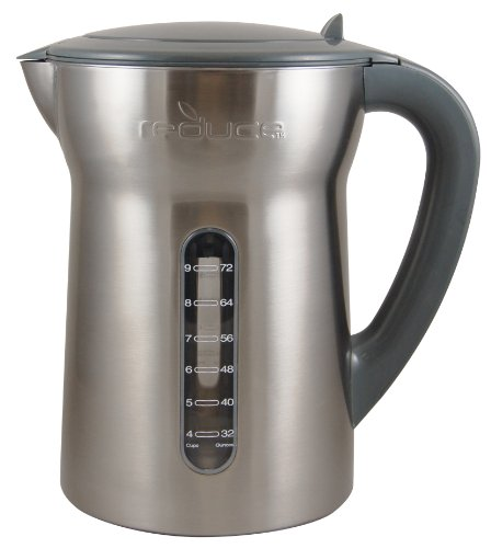 Reduce Vision Water Filtration Pitcher, Stainless Steel