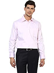 GIVO Gold Class Pink Solid Formal Shirt