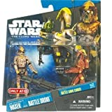 ARF TROOPER WAXER & BATTLE DROID Star Wars Clone Wars 2-Pack