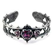 Elizabethan Crystal Heart Alchemy Gothic Bracelet