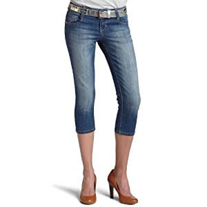 Southpole Junior's Low Rise Belted Capri Jean
