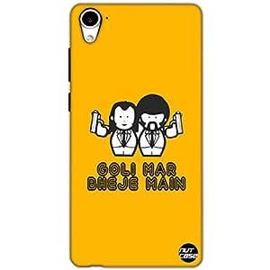Designer HTC 826 Case Cover Nutcase -Goli Mar Bheje Mein