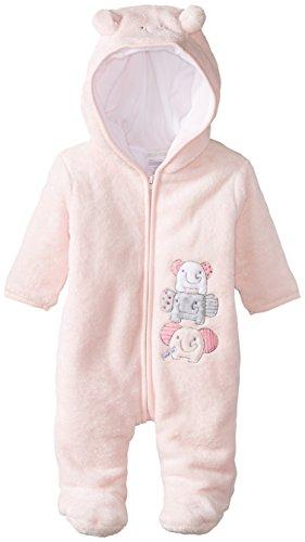 ABSORBA Baby Girls Newborn Elephant Fuzzy Footie Pink 6