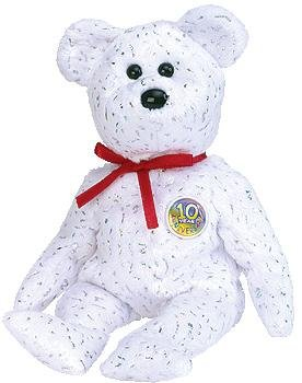 TY Beanie Baby - DECADE the Bear (White Version) - 1