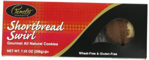 Pamela's Products Shortbread Swirl, 7.25-Ounce Boxes (Pack of 6)