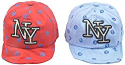Kandyfloss Babies Caps - Pack of 2 Caps (MRHKFCAPS29, Multi-Colored, 3-6 Months)