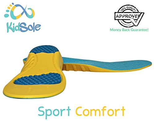 children s athletic memory foam insoles for arch support
