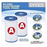 Intex Easy Set Pool Type A Filter Cartridges Twin Pack | 29002E
