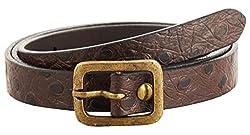 Garvan Women's Dark Brown Leather Belt (LBW 9-DarkBrown, Size : 32)