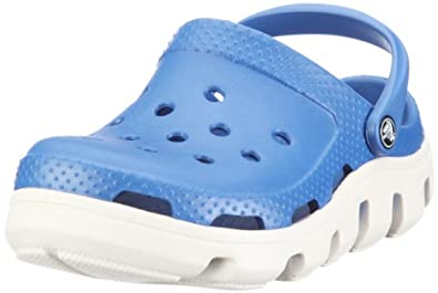 Crocs Duet Mule (Toddler/Little Kid),Sea Blue/Oyster,2 M US Little Kid/ 4 M US Women's