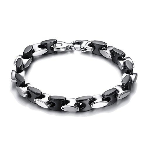 Red Dandelion Fashion Personalize Alphabet H Splice Titanium Steel Classic Men Bracelet