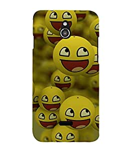 printtech Smiley Meme Happy Back Case Cover for Infocus M2