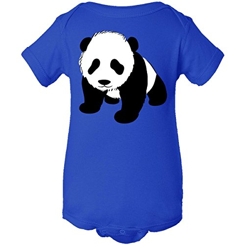 Inktastic Unisex Baby Panda Bear Infant Creeper Newborn Royal Blue back-952058