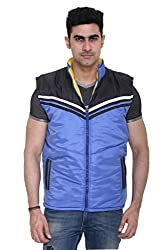Sleeveless Quilted Jacket for Men by COLORS & BLENDS - Sky Blue - M size