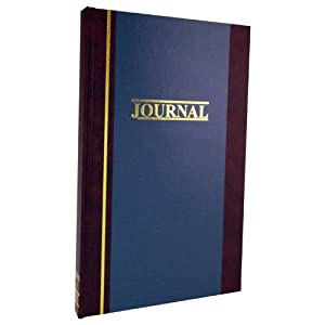"Wilson Jones S300 Line Journal, 11-3/4"" x 7-1/4"", 150 pages, 2-column (WS300-15JA)"