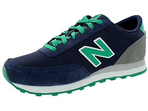 New Balance Men'S Ml501 Core Collection Classic Running Shoe, Navy/Green, 8.5 D Us