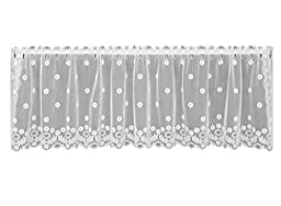 Heritage Lace Daisy Valance, 60 by 16-Inch, Ivory by Heritage Lace