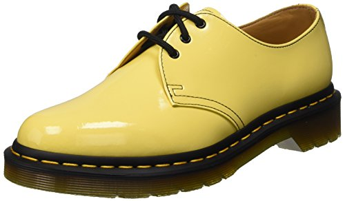 Dr. Martens 1461 Patent Acid Yellow, Scarpe Basse Stringate Unisex Adulto, Giallo (Acid Yellow), 37