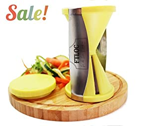 ★ #1 Best Spiralizer Spiral Vegetable Slicer As Seen on TV with 2 Sizes Julienne... by Love of Cooking