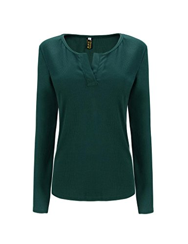 Tkria Autunno Moda Caldo Cotone Camice Lingerie Verde,XL