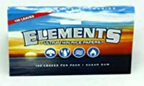 25 Elements SINGLE WIDE Rice Thin Cigarette Rolling Papers BOX