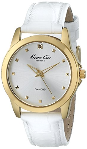 Kenneth Cole New York Three-Hand Leather - White Women's watch #KC2856