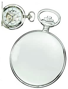 Charles-Hubert, Paris High Polish Chrome Mechanical Pocket Watch