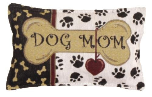 Dog Mom Love Tapestry Toss Pillow Usa Made front-915781