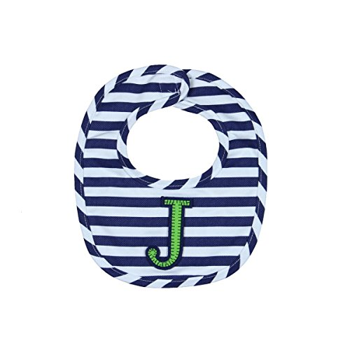 Mud Pie Baby-Boys Newborn J Initial Boy Bib, Blue, One Size