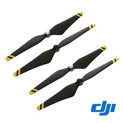 DJI Phantom 2 & 3 Series Carbon Fiber Reinforced Self-Tightening Propellers Props, 24 x 12.7cm, 2 Pack, Black with Yellow Stripes