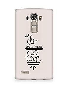 AMEZ do great things with love Back Cover For LG G4