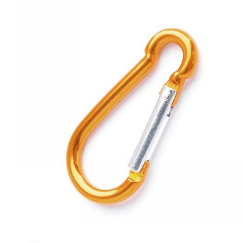 Aluminum Mountaineering Carabiner Camp Camping Snap Clip Hook Keychain Hiking Key Chain Gold Color