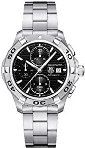 Tag Heuer Aquaracer Automatic Black Dial Chronograph Mens Watch CAP2110.BA0833
