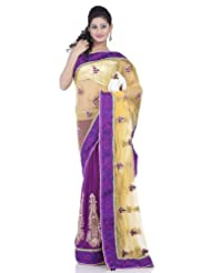 Chhabra555 Yellow Net One Minute Saree
