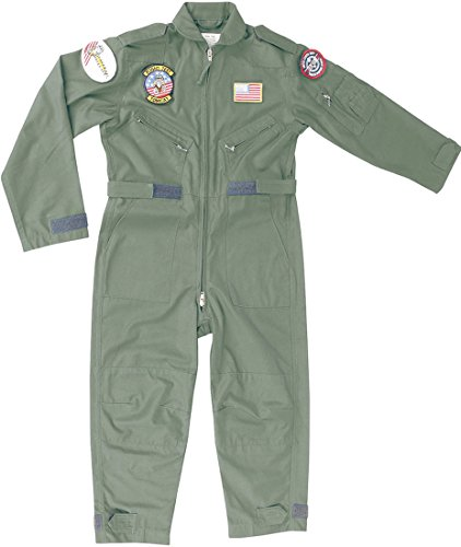 kids-flight-suit-childrens-us-airforce-top-gun-pilot-aviators-army-clothing-olive-xsmall